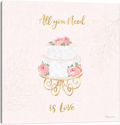 All You Need is Love IX Pink Canvas Art Print