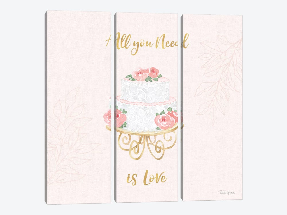 All You Need is Love IX Pink 3-piece Art Print