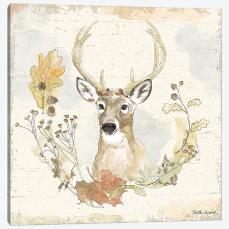 Woodland Wreath VIII Canvas Print #BEG12} by Beth Grove Art Print