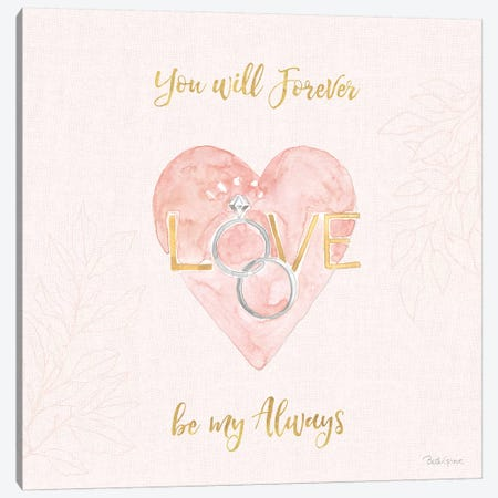 All You Need is Love XI Pink Canvas Print #BEG136} by Beth Grove Canvas Art