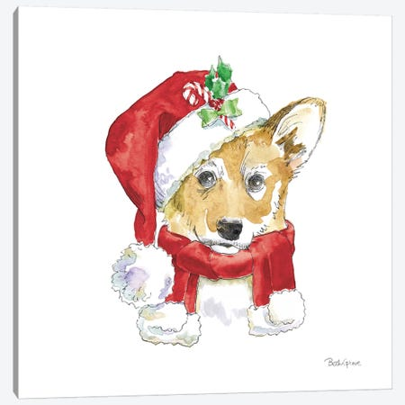 Holiday Paws VIII on White Canvas Print #BEG139} by Beth Grove Art Print