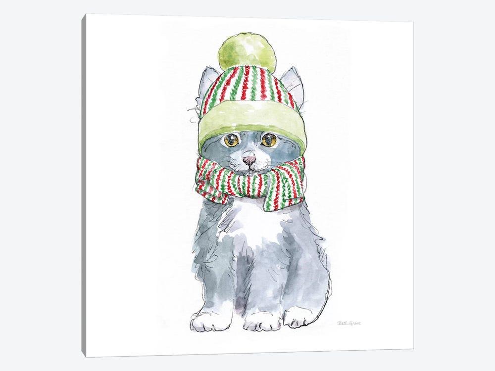 Christmas Kitties II Square by Beth Grove 1-piece Canvas Art