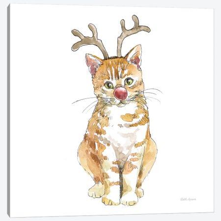 Christmas Kitties III Square Canvas Print #BEG145} by Beth Grove Canvas Print