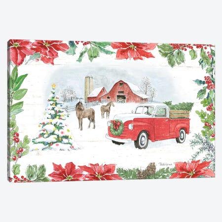 Farmhouse Holidays I Canvas Print #BEG14} by Beth Grove Canvas Wall Art