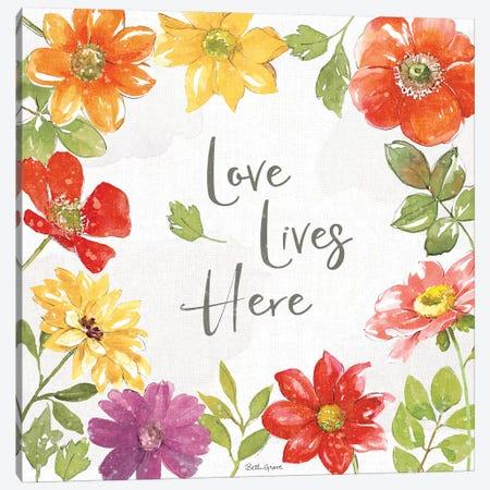 Farmhouse Floral III Canvas Print #BEG160} by Beth Grove Canvas Artwork