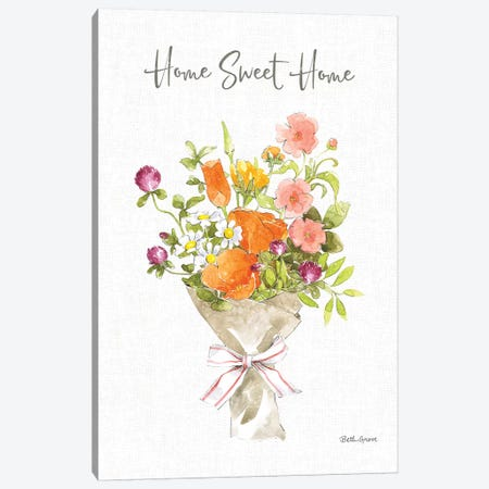 Farmhouse Floral IV Canvas Print #BEG161} by Beth Grove Canvas Wall Art