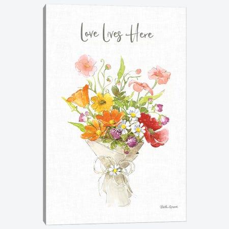 Farmhouse Floral V Canvas Print #BEG162} by Beth Grove Canvas Wall Art