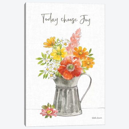 Farmhouse Floral VII Canvas Print #BEG164} by Beth Grove Canvas Print