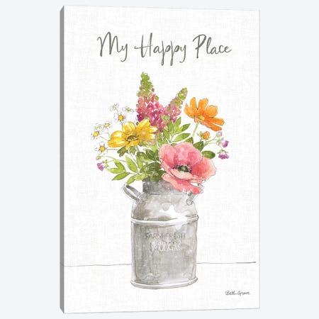 Farmhouse Floral VIII Canvas Print #BEG165} by Beth Grove Canvas Art Print