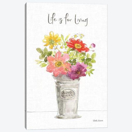 Farmhouse Floral IX Canvas Print #BEG166} by Beth Grove Canvas Art Print