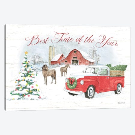 Farmhouse Holidays V Canvas Print #BEG16} by Beth Grove Canvas Artwork