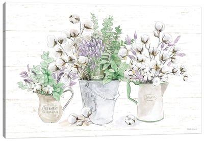 Farmhouse Cotton I Sage Canvas Art Print