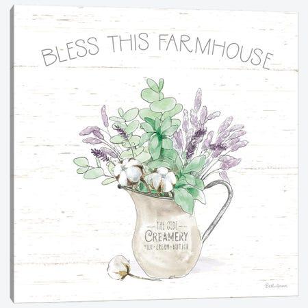 Farmhouse Cotton II Sage 3-Piece Canvas #BEG172} by Beth Grove Canvas Print