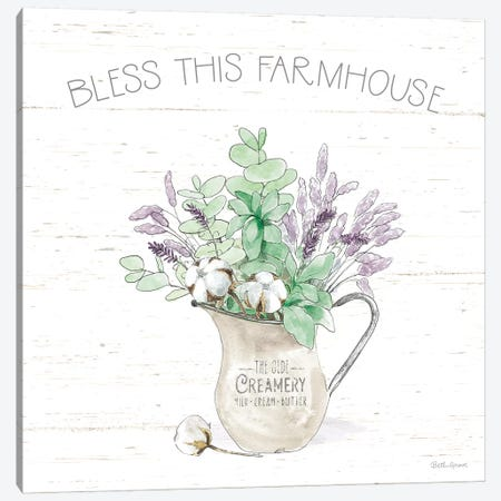 Farmhouse Cotton II Sage Canvas Print #BEG172} by Beth Grove Canvas Print