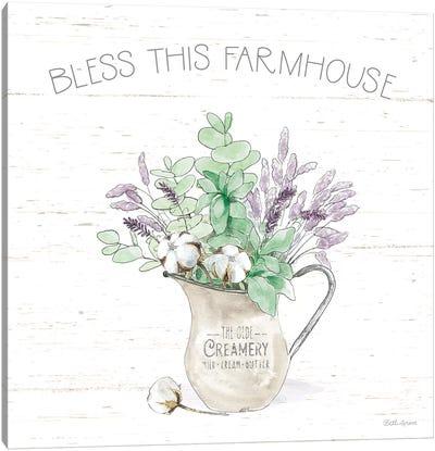 Farmhouse Cotton II Sage Canvas Art Print