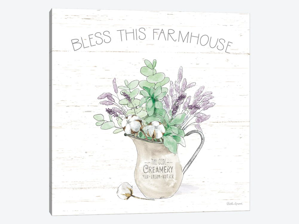 Farmhouse Cotton II Sage by Beth Grove 1-piece Art Print