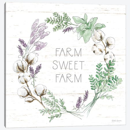Farmhouse Cotton VIII Sage Canvas Print #BEG176} by Beth Grove Canvas Wall Art