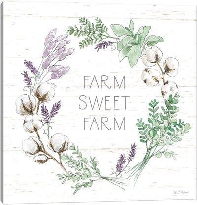 Farmhouse Cotton VIII Sage Canvas Art Print