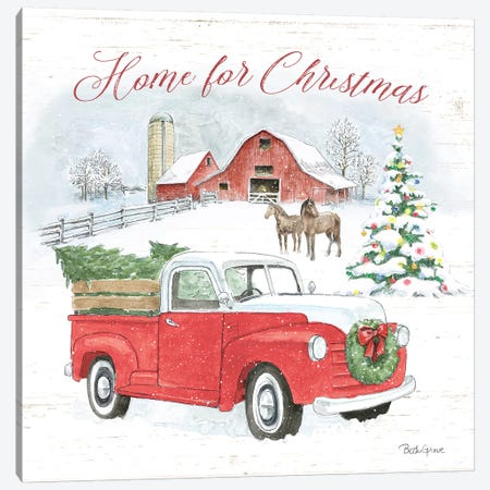 Farmhouse Holidays VII Canvas Print #BEG18} by Beth Grove Canvas Print