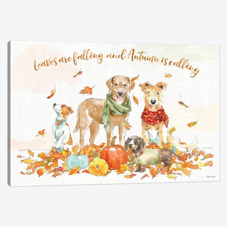 Harvest Dogs I Canvas Print #BEG196} by Beth Grove Canvas Artwork