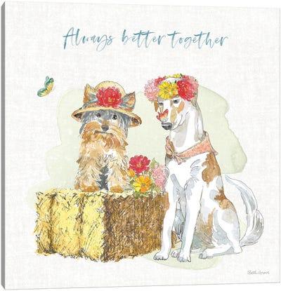 Furry Pals III Canvas Art Print