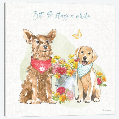 Furry Pals V Canvas Print #BEG201} by Beth Grove Canvas Art Print