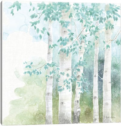 Natures Leaves III No Gold Canvas Art Print