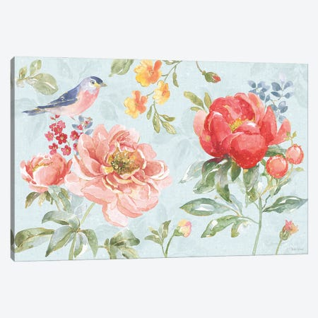 Floral Focus I Blue Canvas Print #BEG208} by Beth Grove Canvas Art Print