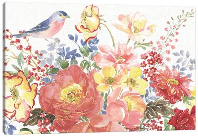 Floral Focus II Canvas Art Print