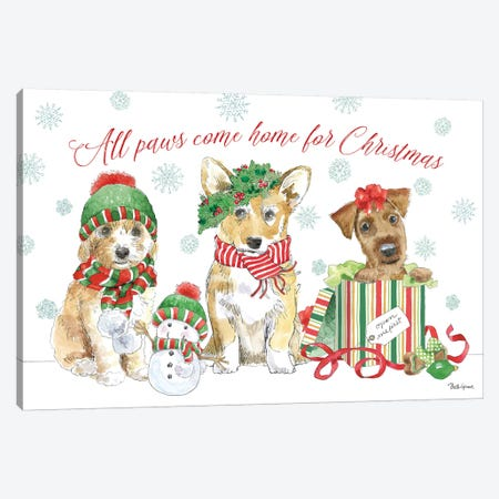 Holiday Paws I Canvas Print #BEG20} by Beth Grove Canvas Wall Art