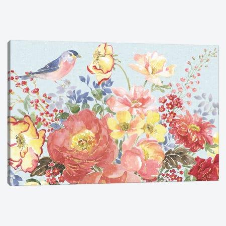 Floral Focus II Blue Canvas Print #BEG210} by Beth Grove Canvas Wall Art