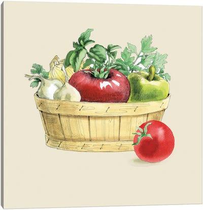Fresh From The Garden I Cream Canvas Art Print
