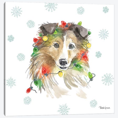 Holiday Paws IX Canvas Print #BEG24} by Beth Grove Canvas Art Print