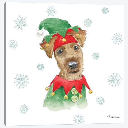 Holiday Paws VII Canvas Print #BEG27} by Beth Grove Art Print