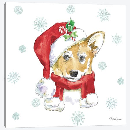 Holiday Paws VIII Canvas Print #BEG28} by Beth Grove Canvas Wall Art