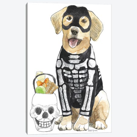 Halloween Pets VII Canvas Print #BEG32} by Beth Grove Canvas Print