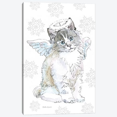 Christmas Kitties I Snowflakes Canvas Print #BEG33} by Beth Grove Canvas Art Print