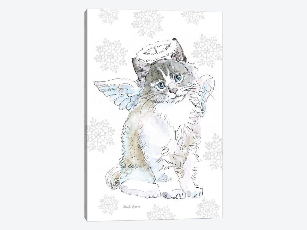 Christmas Kitties I Snowflakes by Beth Grove 1-piece Canvas Print