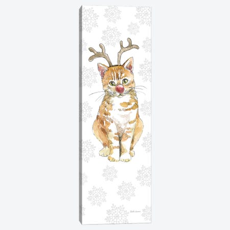 Christmas Kitties III Snowflakes Canvas Print #BEG35} by Beth Grove Canvas Artwork