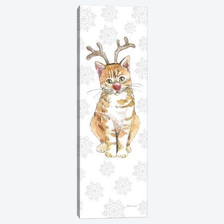 Christmas Kitties III Snowflakes Canvas Print #BEG35} by Beth Grove Canvas Artwork