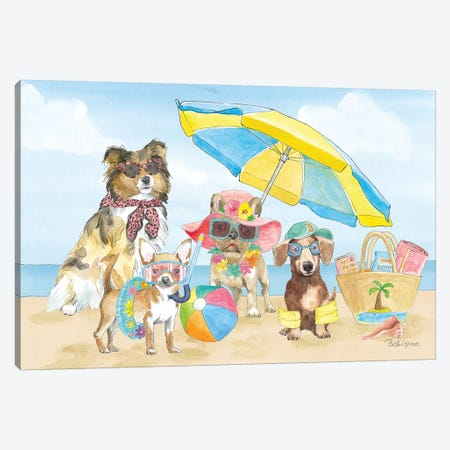 Summer Paws I Canvas Print #BEG37} by Beth Grove Canvas Artwork