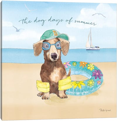Summer Paws III Canvas Art Print