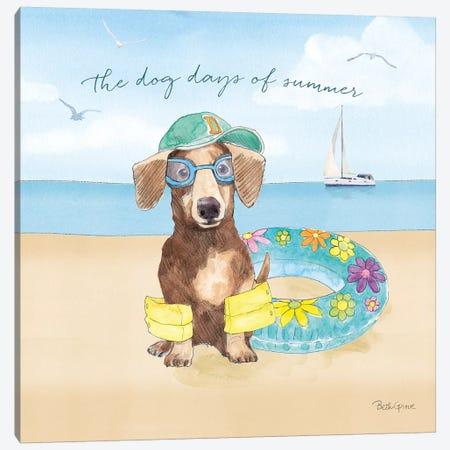 Summer Paws III Canvas Print #BEG39} by Beth Grove Canvas Art Print