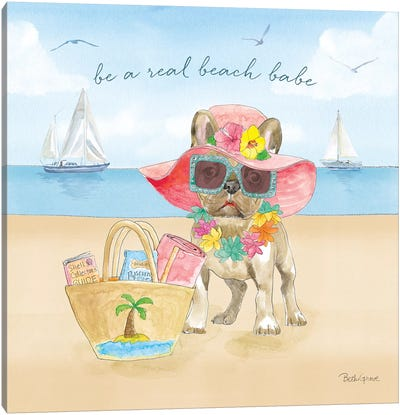 Summer Paws IV Canvas Art Print
