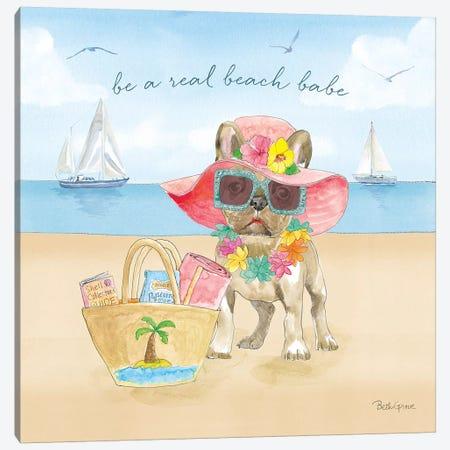 Summer Paws IV Canvas Print #BEG40} by Beth Grove Canvas Wall Art