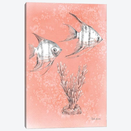 Coastal Sea Life III Canvas Print #BEG48} by Beth Grove Canvas Artwork
