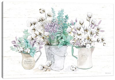 Farmhouse Cotton I Canvas Art Print