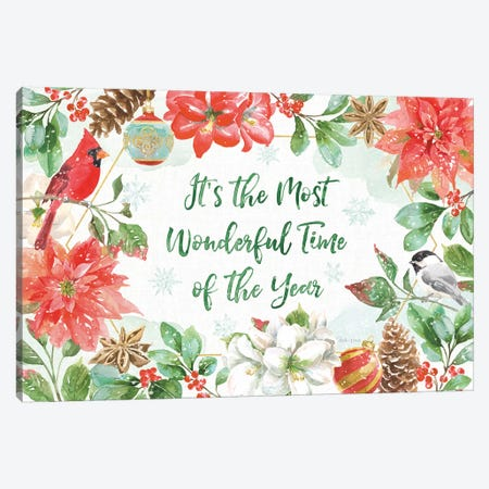 Holiday Flora I Canvas Print #BEG65} by Beth Grove Canvas Art Print