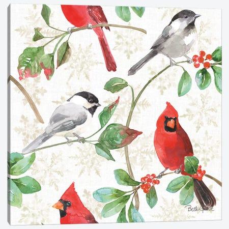 Holiday Flora Pattern IIIA Canvas Print #BEG70} by Beth Grove Canvas Print