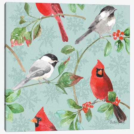 Holiday Flora Pattern IIIC Canvas Print #BEG72} by Beth Grove Canvas Art Print